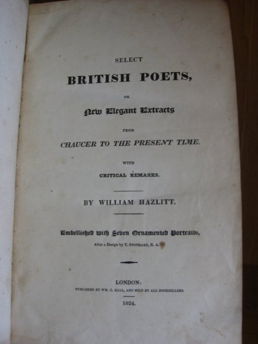 Image for Select British Poets, or New Elegant Extracts from Chaucer to the Present Time, With Critical Remarks. [Suppressed First Edition]