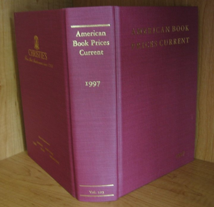 Image for American Book Prices Current 1997 Volume 103 The Auction Season September 1996- August 1997