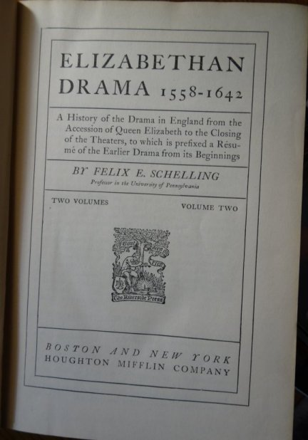 Image for Elizabethan Drama 1558-1642 [Volume Two ]