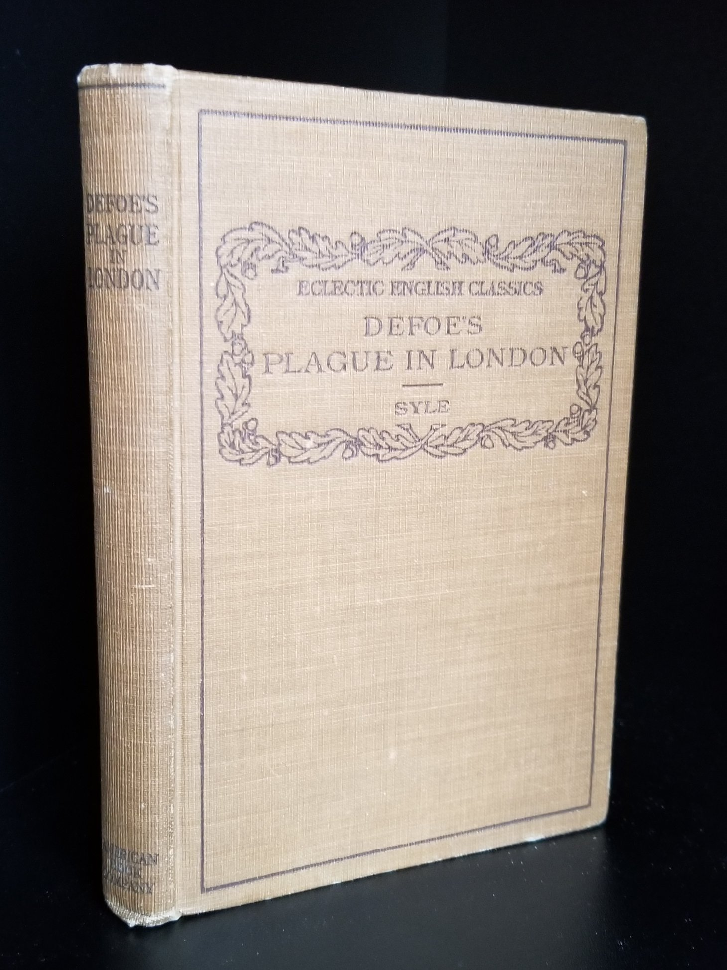Image for Defoe's History of the Plague in London. Eclectic English Classics.